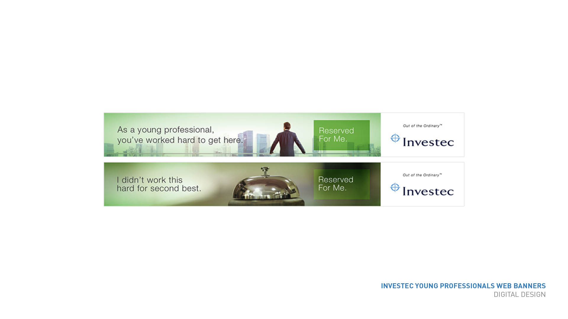 Investec Young Professionals web banners