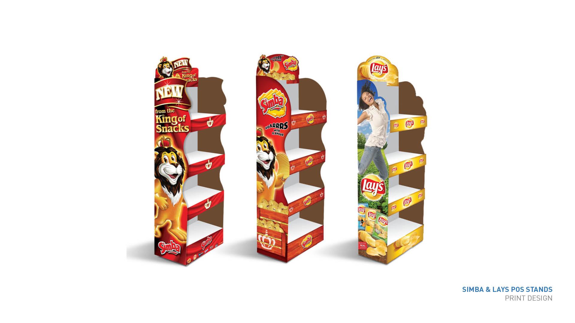 Simba merchandising stands