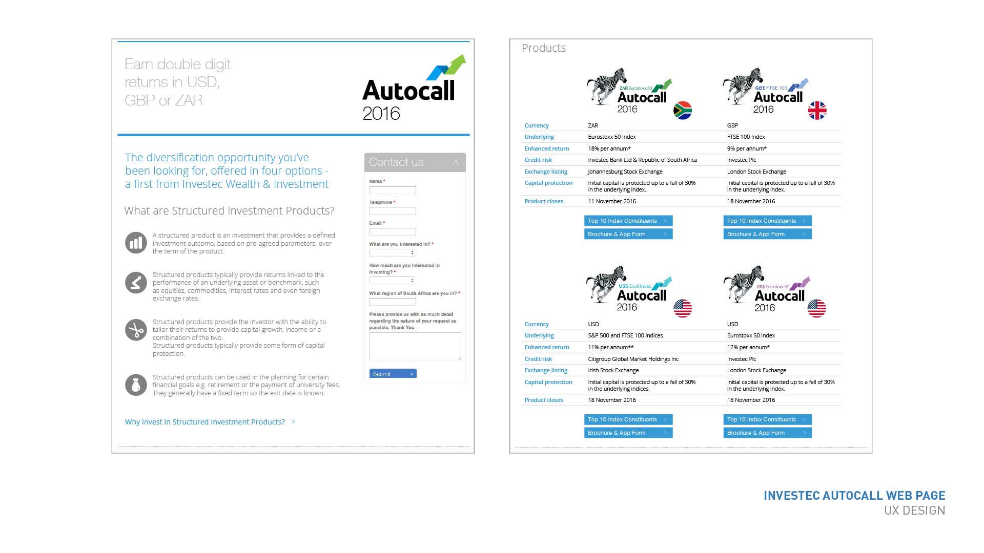 Autocall landing page