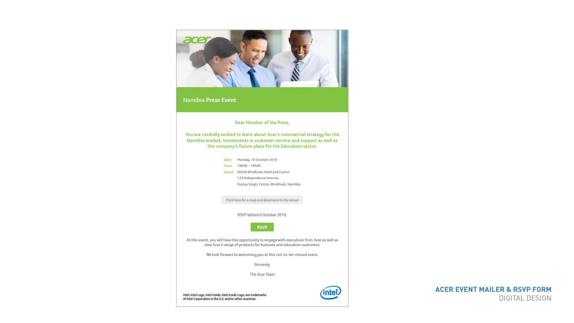 Acer emailer
