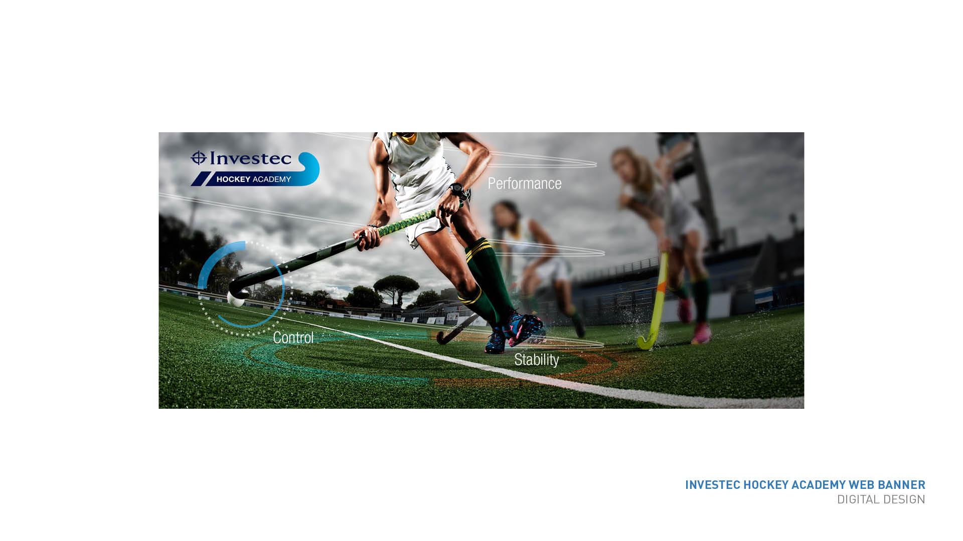 Investec Hockey Academy Banner